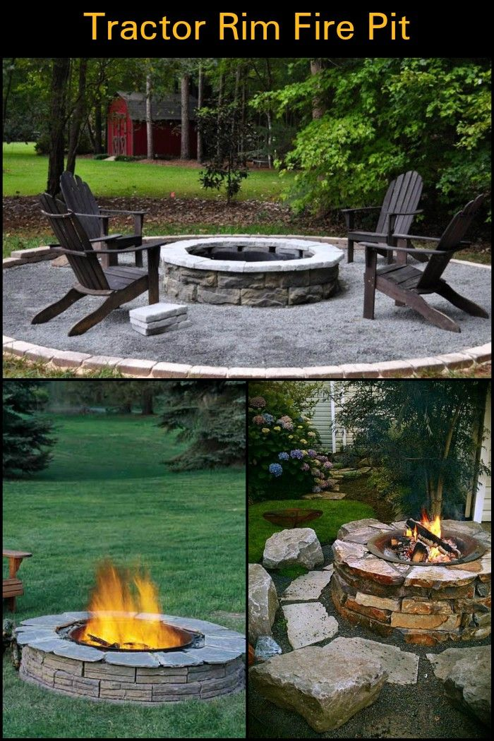 Keep Warm and Cozy Outdoors with an Old Tractor Tire Rim Fire Pit
