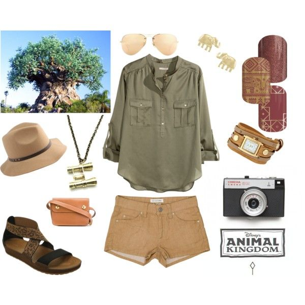 Walt Disney World Animal Kingdom Casual Outfit with Jamberry Nails