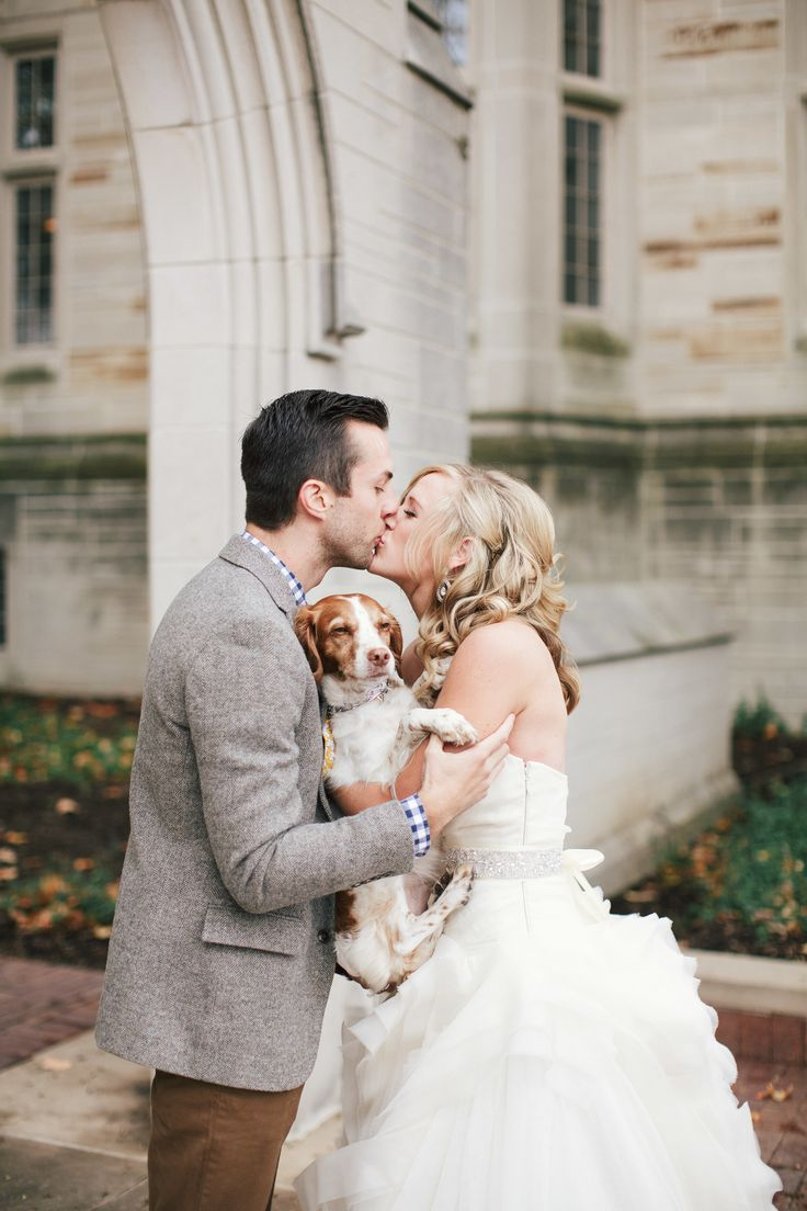 Dog love. Photography: Todd Pellowe - tpellowe.com  Read More: http://www.stylemepretty.com/2014/03/03/fall-wedding-at-sycamore-farm-bloomington/