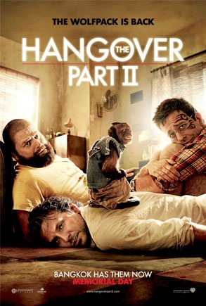 The Hangover Part II movie poster. With Bradley Cooper, Ed Helms, Zach