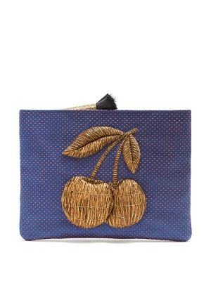 Ciliegia embroidered polka-dot clutch bag | Sanayi 313 | MATCHESFASHION.COM AU