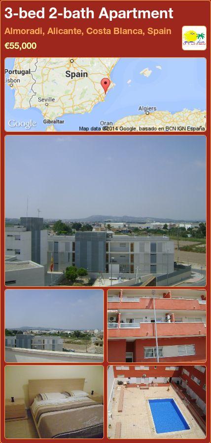 3-bed 2-bath Apartment for Sale in Almoradi, Alicante, Costa Blanca, Spain ►€55,000
