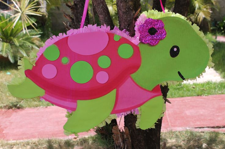Piñata de Tortuga rosada