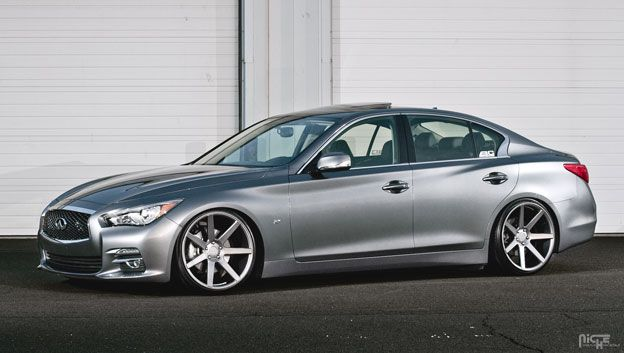 2014 Infiniti Q50 all wheel drive stanced perfectly on 20x10.5 Niche M149 Verona's