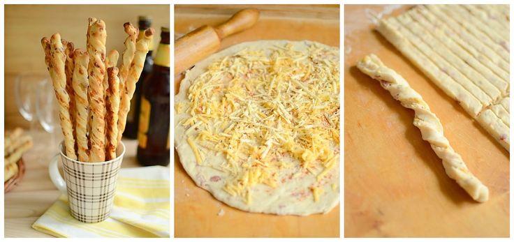 Chrumkavé tyčinky so syrom a slaninou