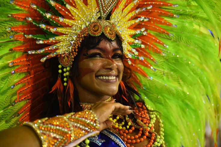 2015   CARNAVAL DE RIO DE JANEIRO, BRASIL - Revelers of the Mocidade Indepedente samba school perform during the first day of carnival parade at the Sambodrome in Rio de Janeiro, Brazil on February 16, 2015.