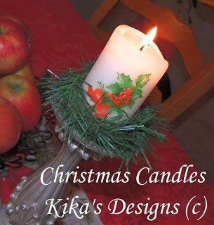 Kreatívny Magazín: Vianočné sviečky / Christmas Candles