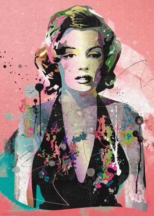 Puzzle HEYE 1000 dílků - Lidé: Marilyn (Johnny Cheuk)