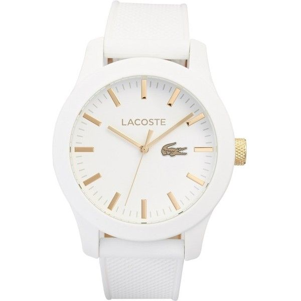 Lacoste '12.12' Watch, 43mm ($135) ❤ liked on Polyvore featuring men's fashion, men's jewelry, men's watches, men, watches, bracelets, jewelry, accessories, white and mens stainless steel watches