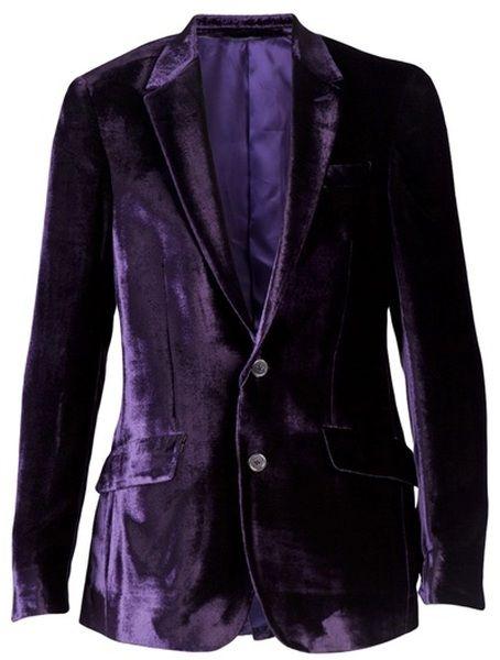men's purple velvet blazer