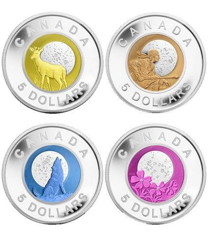 Algonquin Moons Coins from the Royal Canadian Mint