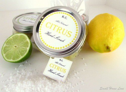 homemade citrus salt scrub