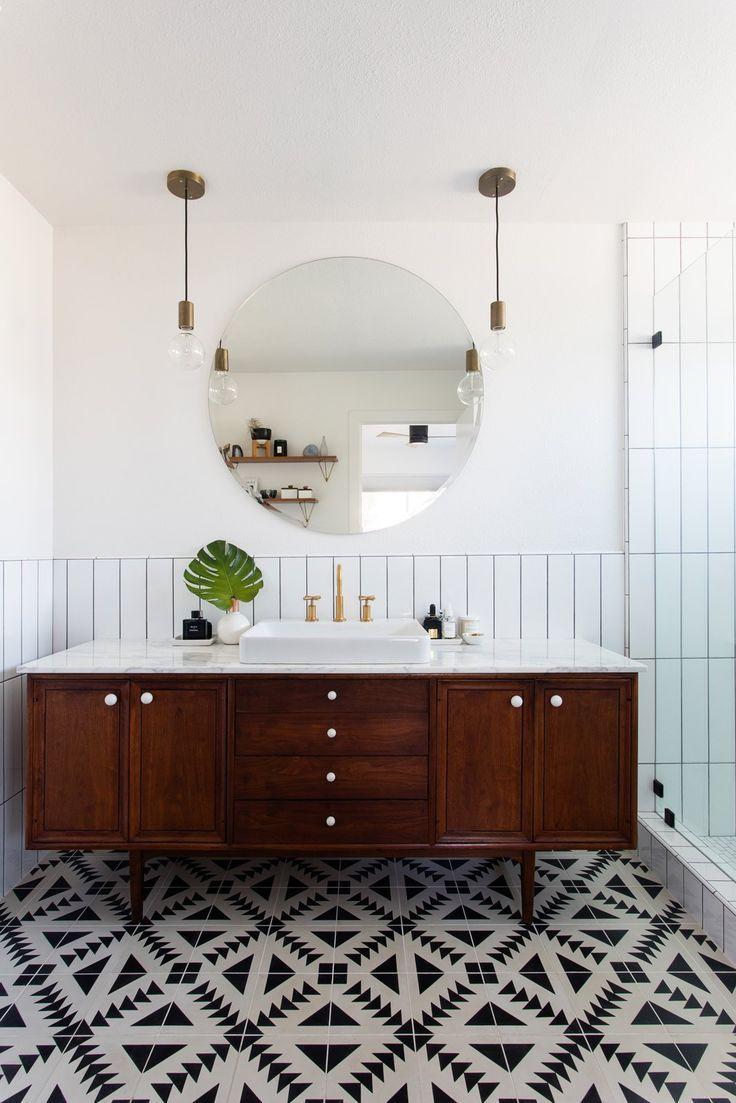 Modern Boho Bathroom Home Style Bathroom Tile Designs Bathroom Inspiration Mid Century Modern Bathroom [ jpg ]