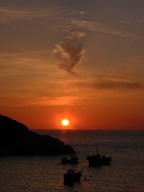 Sunset Pembrokeshire Coast National Park, Wales.,England