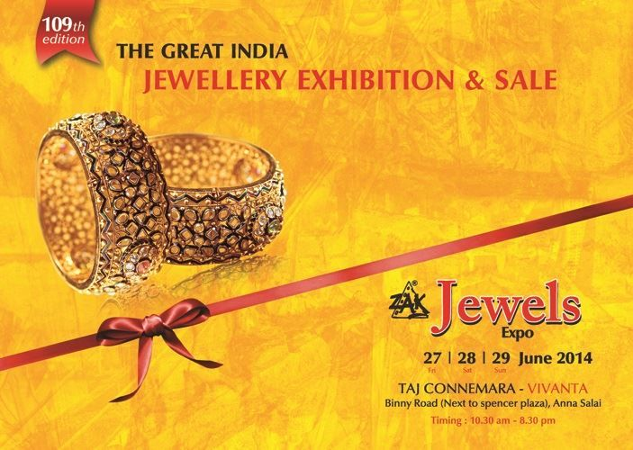 Are you in Chennai from 27-29th June? Come visit us at our stall at ZAK Jewels Expo 2014! The event is being held at Taj Connemara-Vivanta and we'd love to see you there! #Jpearls