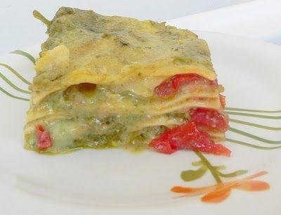 Thermomix Lasagne with Basil Pesto, Bechamel Sauce, Cherry Tomato and Mozzarella...yum!