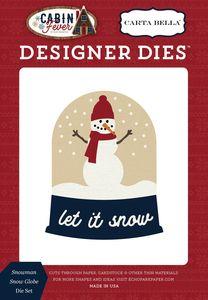 Search: carta bella cabin fever > Snowman Snow Globe Die Set - Carta Bella - PRE ORDER: A Cherry On Top