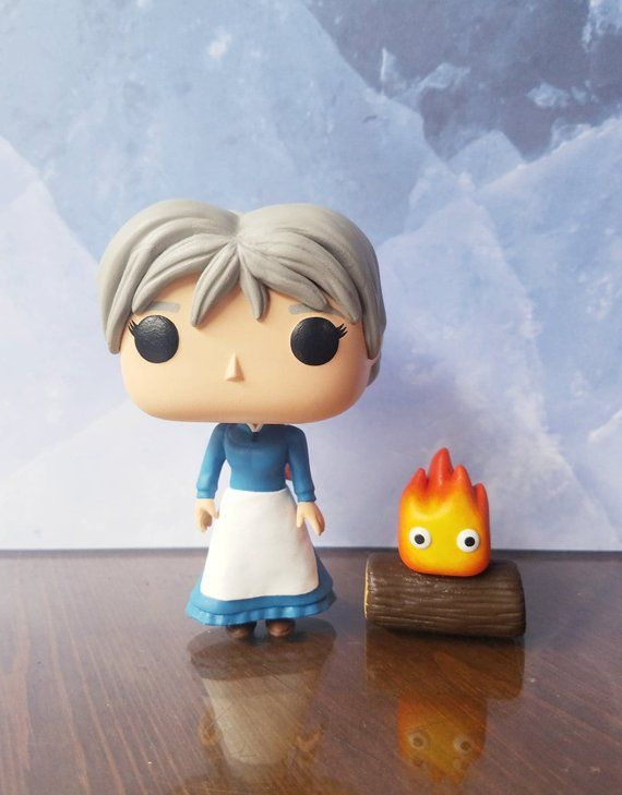 Sophie Calcifer Howl S Moving Castle Custom Funko Pop