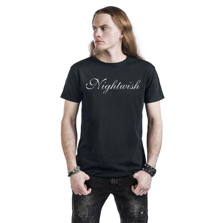 "Classica T-Shirt uomo nera ""Silver Logo"" dei #Nightwish."