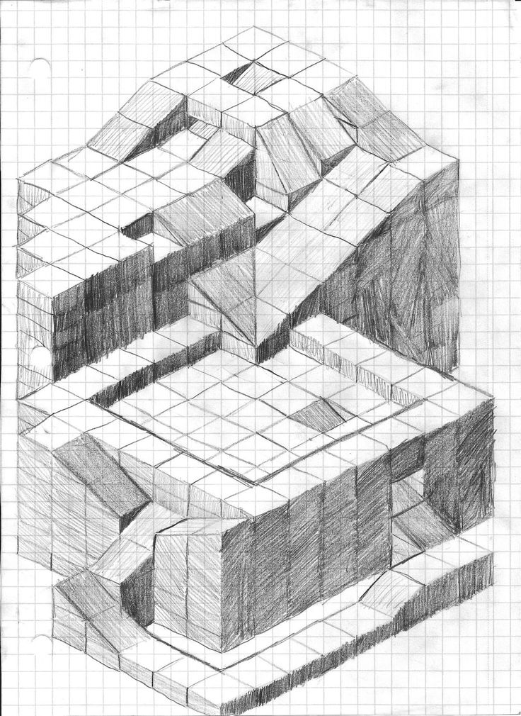 Best 20+ Isometric sketch ideas on Pinterest | Castle drawing ...