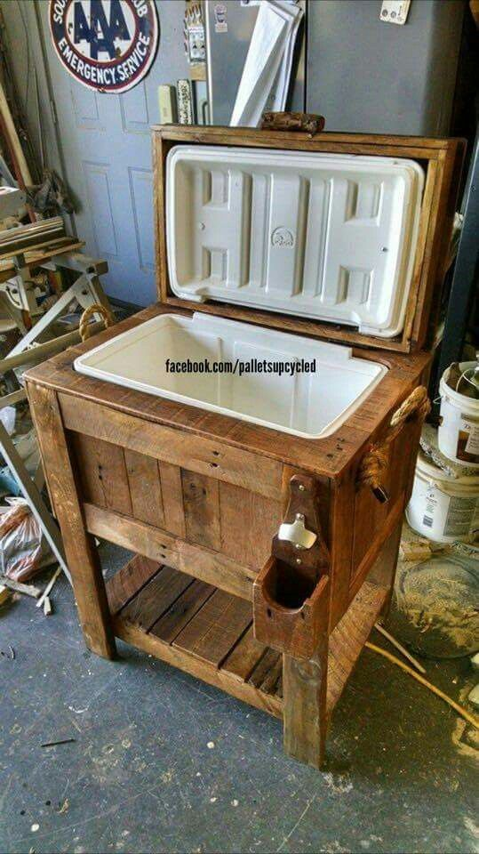 Pallet Cooler Diy Outdoor Furniture Outdoor Cooler