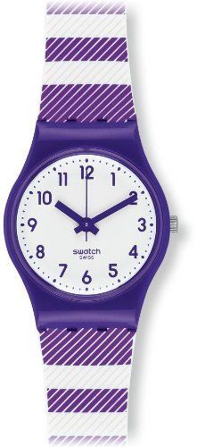 Swatch Purple Tracks Women's Plastic Case Purple Rubber Watch LV116 Swatch. $56.00. Purple Rubber Strap. Analog Display