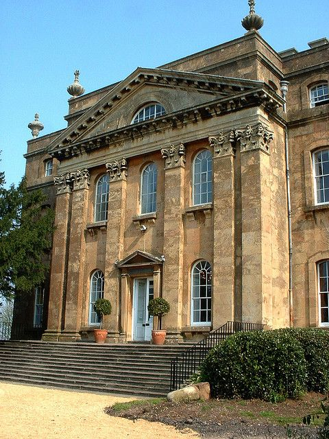 ARCHITECTURE – another great example of beautiful design. Grand portico, Kings Weston House, Bristol