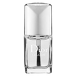 Dior - Gel Coat  #Sephora, Macy's. I don't rave over many products, but I tried this on a nail in passing and have been hooked since. This is the BEST. It goes on like butter, has a ridiculous shine and crazy lasts. WELL worth the price. Top product!
