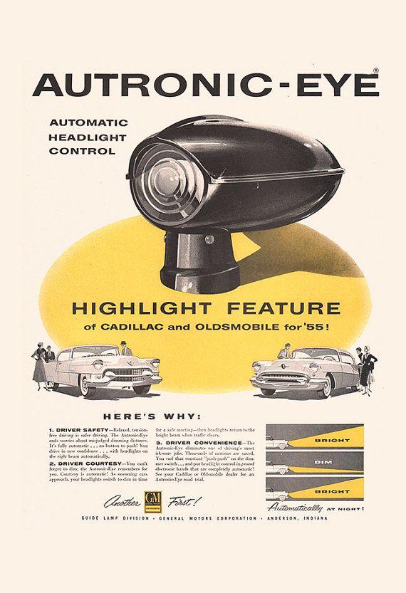 CLASSIC CAR AD Retro Cadillac Ad Automobile by EncorePrintSociety