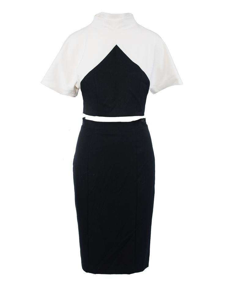 2 Piece Black Halo Colorblock Dress