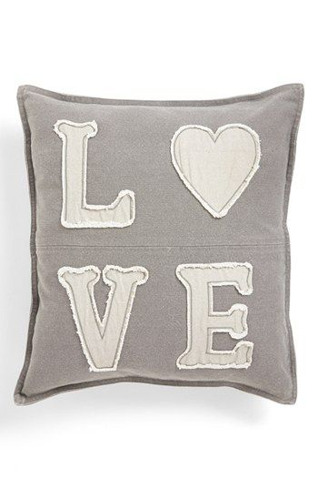 Spencer N. Home 'Love' Pillow available at #Nordstrom Grey $38.00