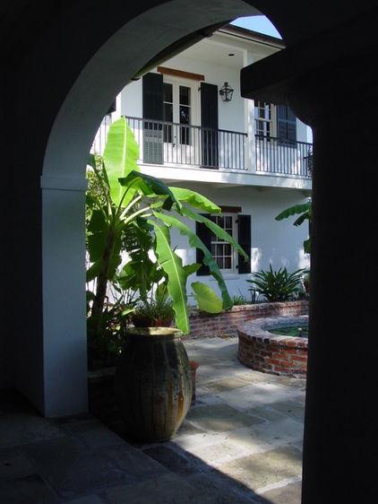 New Orleans courtyard: mediterranean exterior by Al Jones Architect