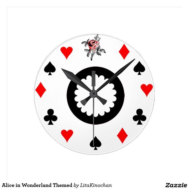 Relógio Redondo Alice no país das maravilhas temático ...