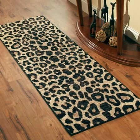 Better Homes and Gardens Cheetah Print Runner Rug