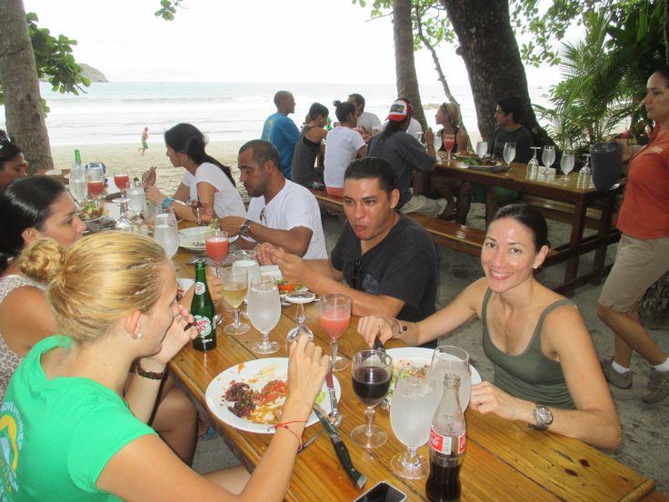 Lunch at Arenas del Mar in Manuel Antonio during the Cayuga Retreat 2014