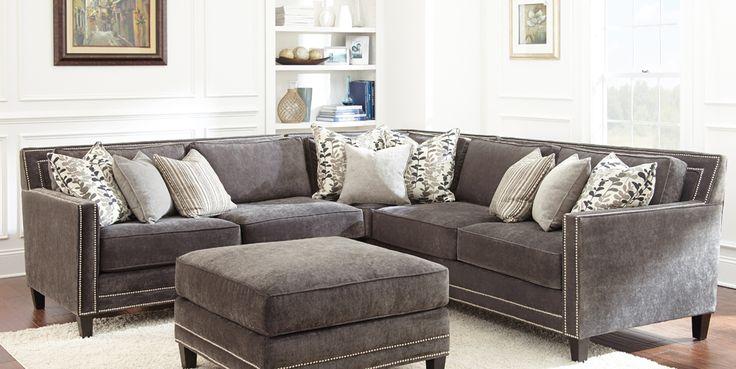 Grey Sofa With Nailheads Buy Steve Silver Torrey