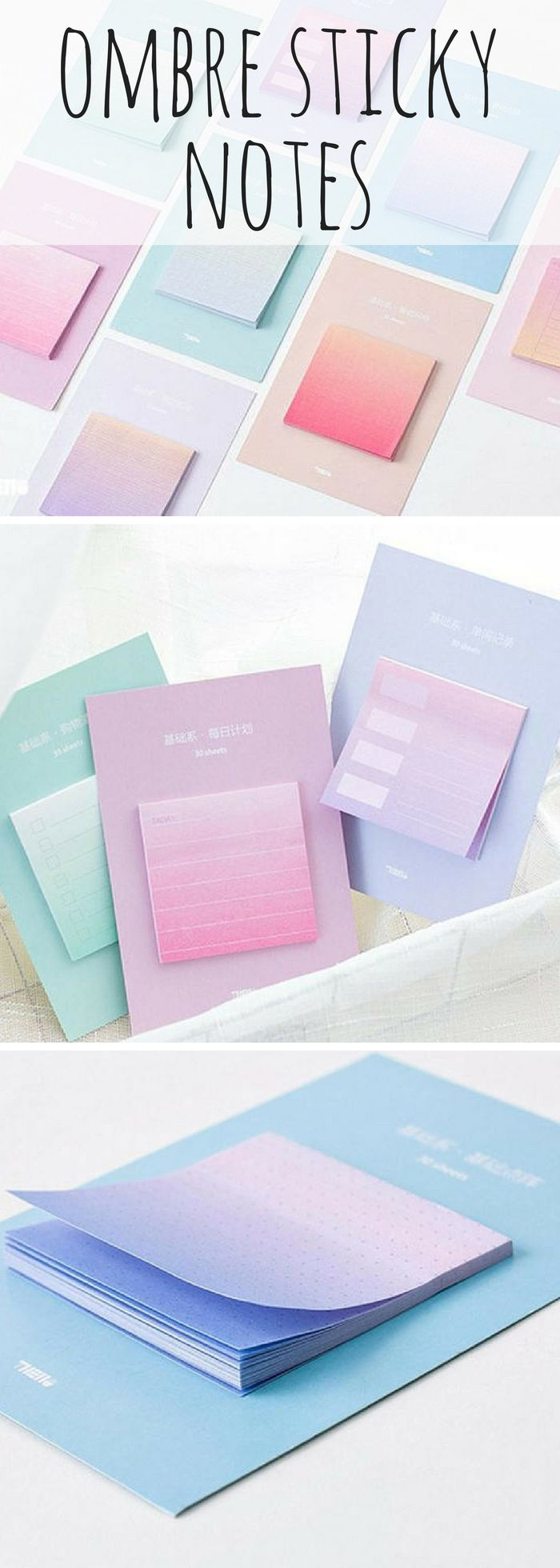 the BEST sticky notes! Some of them have to do lists printed and some have dots grids. Really perfect for slotting into your bullet journal or planner! #ad #stationery #bulletjournal #planner
