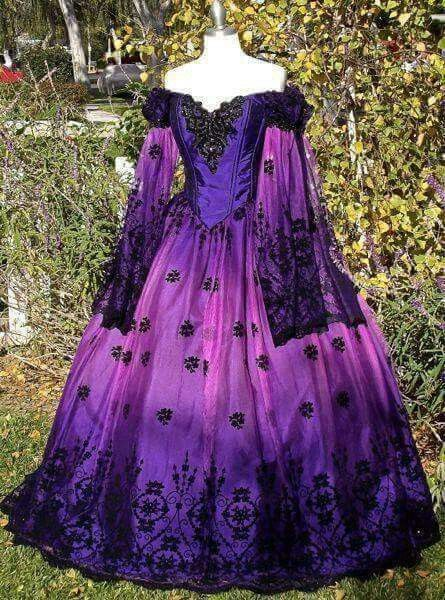 Ombre purple ball gown