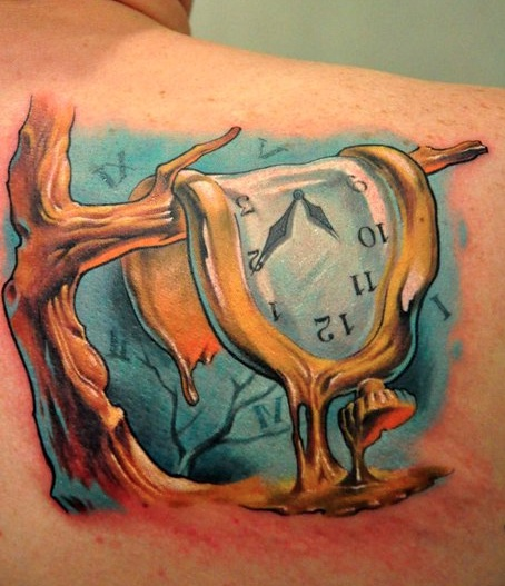 Dali inspired tattoo.  I have something similar in mind