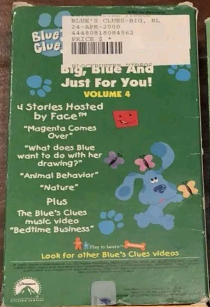 Blue's Clues Big Blue and Just for you Volume 4 2000 VHS ...