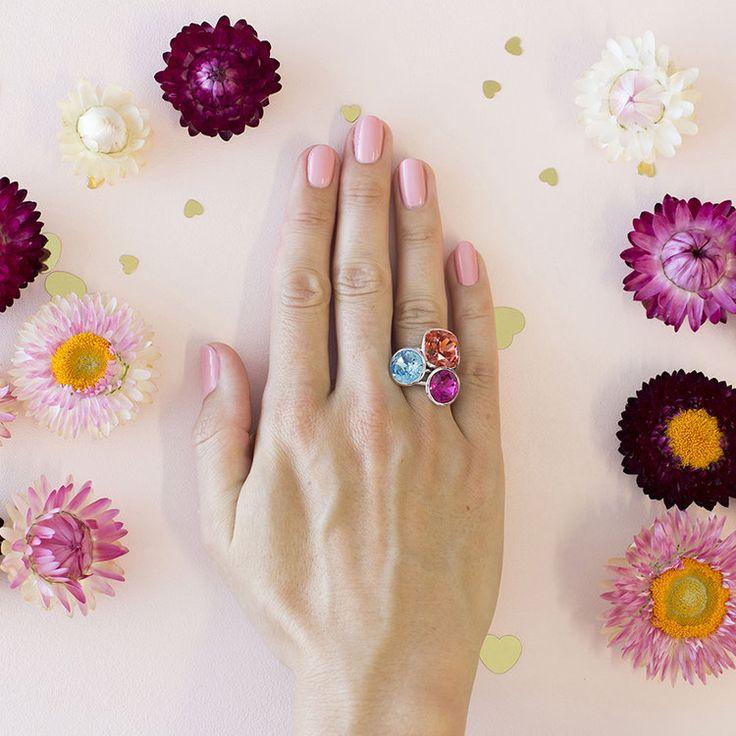 Santorini MKD Summer 2018 Stacker Ring Set #bling #MarisaKateDesigns #Swarovski #crystal #jewel #sterlingsilver