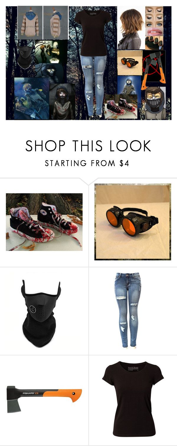 """""""Ticci Toby- Creepypasta"""" by nicoleoliviaberry ❤ liked on Polyvore featuring Converse, Fiskars, Bread & Boxers and Anna Sui"""