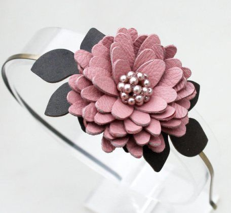 how to make leather flowers - Pesquisa Google