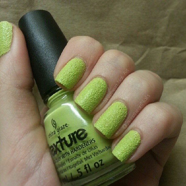 CG - In the Rough ☆ Texture Collection  (2 coats/no topcoat)  Photo by sweetheartnailart_