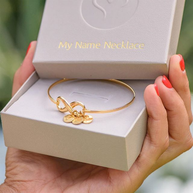 Infinity Bangle Bracelet With Initial Charms In Gold Plating Gold Key Necklace Key Charm Necklace Gold Diamond Wedding Rings