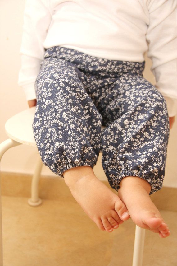 Floral baby pants Harem Baby girl pants by bugnbee on Etsy, $17.00