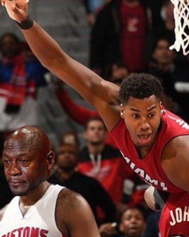 Andre Drummond after Whiteside's Game Winner tonight. #cryingjordanface #miami #heat #miamiheat #heatnation #hassanwhiteside #pistons #detroit #nba #basketball #cryingjordan
