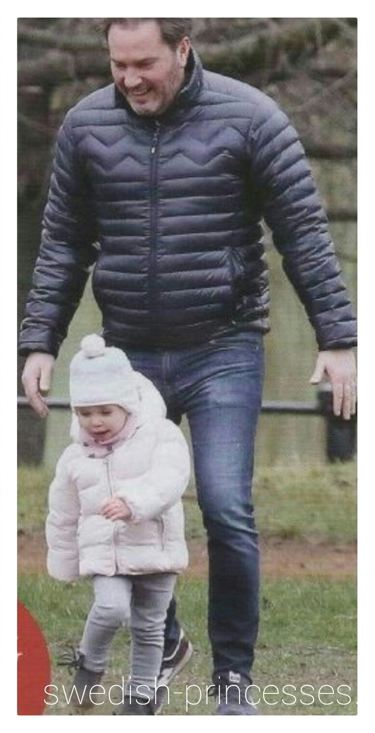 Princess Leonore with her daddy, Chris O'Neill