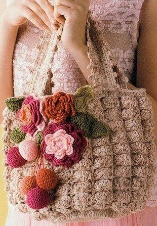Knitting summer handbags