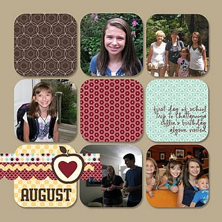 Scrapbook layout from Nutmeg Creations by Cindy